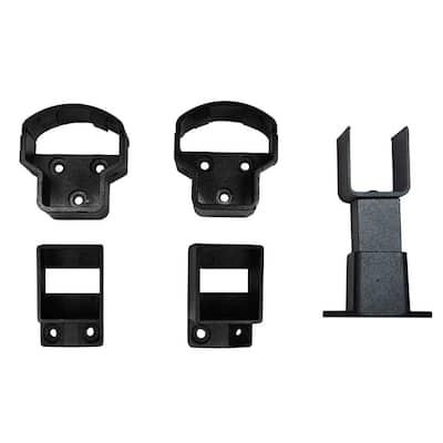 Arlington Textured Black Aluminum Straight Railing Bracket Kit (4-Piece)