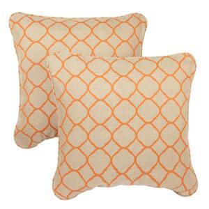 Sorra Home Sunbrella Accord Koi Outdoor Corded Throw Pillows (2-Pack)