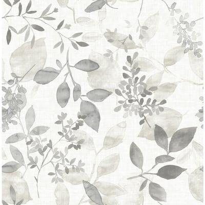Grey Breezy Vinyl Peel & Stick Wallpaper Roll (Covers 30.75 Sq. Ft.)