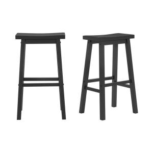 Deals on 2-pack 29-in StyleWell StyleWell Saddle Backless Bar Stool