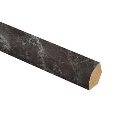Dragon Glass Limestone 5/8 in. T x 3/4 in. W x 94 in. L Vinyl Quarter Round Molding