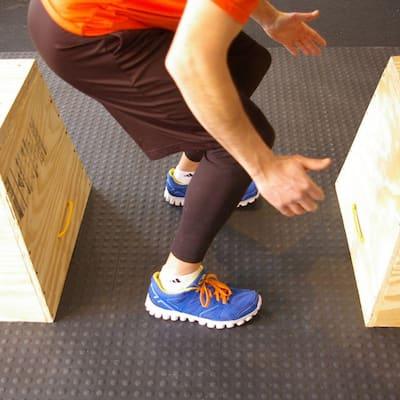 StayLock Bump Top Black 12 in. x 12 in. x 0.56 in. PVC Plastic Interlocking Gym Floor Tile (Case of 26)