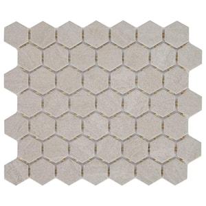 Nova Falls Gray 10 in. x 12 in. x 6.35 mm Ceramic Hexagon Mosaic Floor and Wall Tile (0.81 sq. ft./Each)