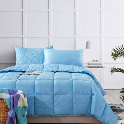 Bird on Branch Air Blue Twin Comforter Set