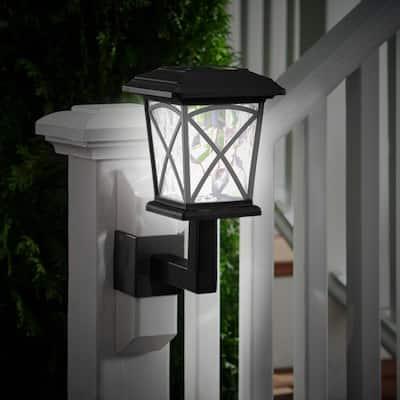 Solar Black LED Lanai Light