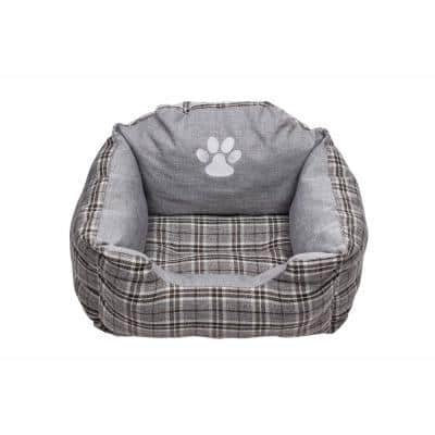 Harlee Small Grey Square Pet Bed