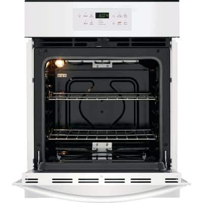 24 in. Single Electric Wall Oven in White