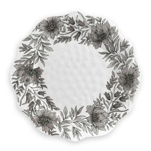 6 pack Farmhouse Botanical Dinner Plate, 11.75'' Melamine