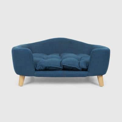 Ferncliffe Small Navy Blue Fabric Bed