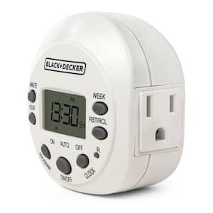 Light Timers, Programmable, Indoor, 1-Pack, Grounded Outlet - Digital Timer Outlet