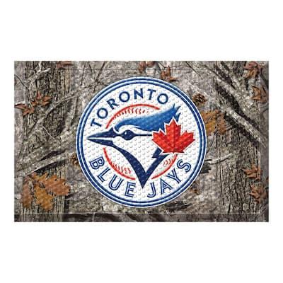 MLB - Toronto Blue Jays 19 in. x 30 in. Outdoor Camo Scraper Mat Door Mat