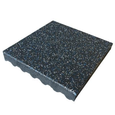 Eco-Safety 3 in. x 1.625 ft. W x 1.625 ft. L Blue-White Rubber Interlocking Flooring Tiles (316 sq. ft.)(120-Pack)(1-PF)