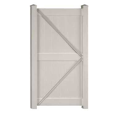 Augusta 3.7 ft. W x 6 ft. H Tan Vinyl Privacy Fence Gate Kit