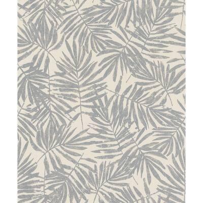 La Veneziana Pewter Leaf Pewter Wallpaper Sample