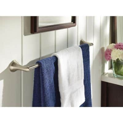 Darcy 24 in. Towel Bar with Press and Mark in Brushed Nickel