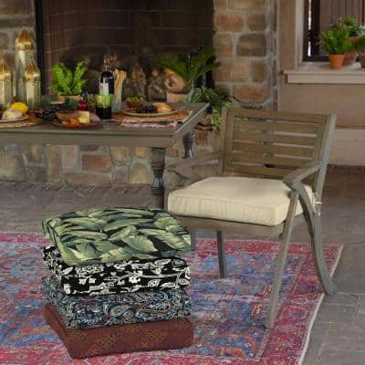 21 x 21 New Tan Leala Texture Square Outdoor Seat Cushion (2-Pack)