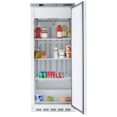 23 cu. ft. Single Door Commercial Reach-In Refrigerator in White