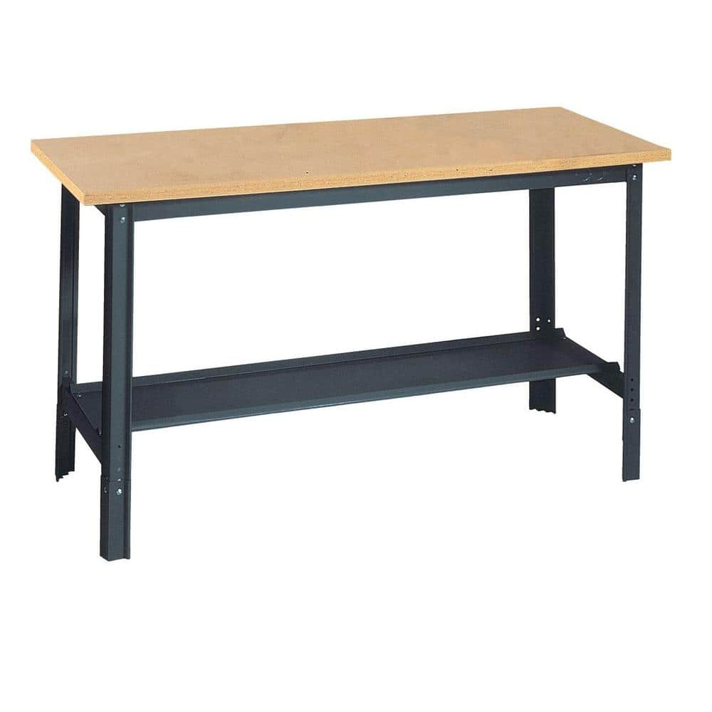 Edsal 33 In H X 60 In W X 30 In D Wooden Top Workbench With Shelf Ub700 The Home Depot