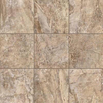 Terrain Camel Beige 18 in. x 18 in. Porcelain Floor and Wall Tile (17.44 sq. ft. / case)