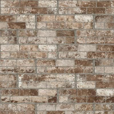 White Washed Brick 6 in. x 24 in. Textured Porcelain Floor and Wall Tile (14 sq. ft./Case)