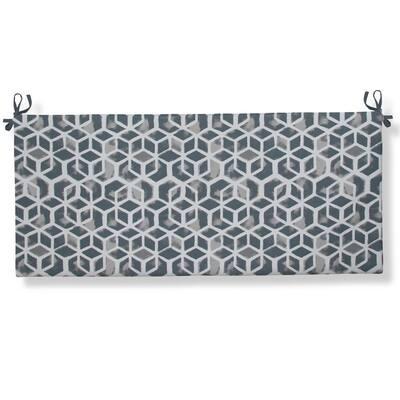 Cubed - Grey Rectangular Bench/Porch Swing Cushion