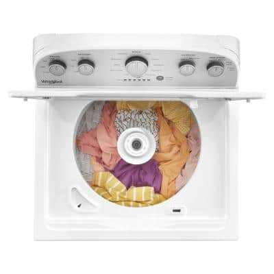 27 in. 4.2 cu. ft. White Top Load Washing Machine with Agitator