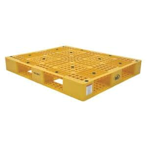 48 in. x 40 in. x 6 in. Yellow Plastic Pallet/Skid