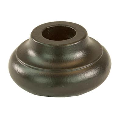 5/8 in. Satin Black Round Venetian Iron Shoe