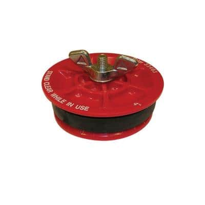 Gripper 4 in. Plastic Mechanical Test Plug