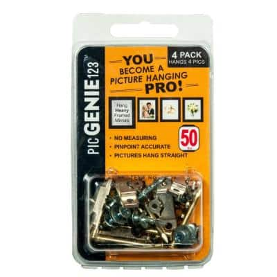 40-Piece 50 lbs. Picture Hanging Kit Hangs Pics Up (4-Pack)