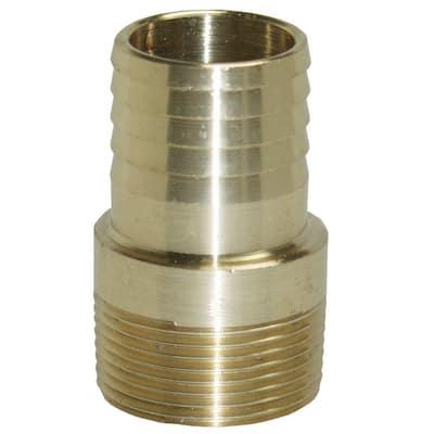 1-1/2 in. Brass Male Insert Adapter