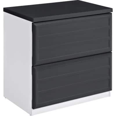 Mansfield Gray and White Lateral File Cabinet