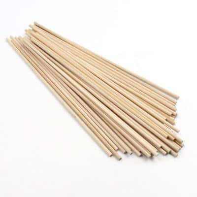 Project Craft 12 in. DIY Natural Wood Dowel Rods for Arts & Crafts and Decor (40-Pack)
