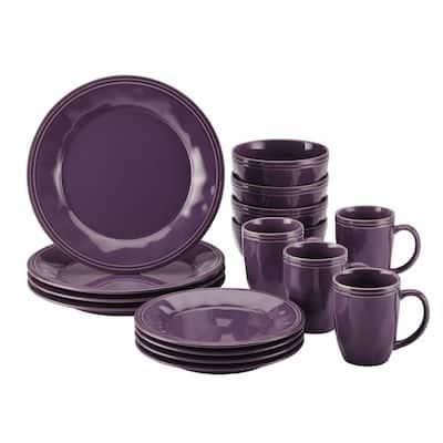 Cucina 16-Piece Casual Lavender Stoneware Dinnerware Set (Service for 4)