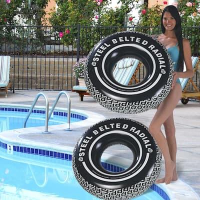 38 in. Radial Tire Tube Pool Float (2-Pack)