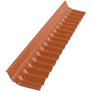 4 ft. Sedona Brick Polycarbonate Roof Panel Wall Connector