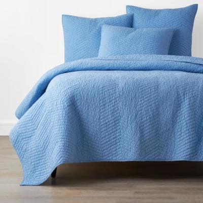 Company Delft Solid King Cotton Quilt