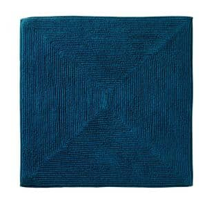 Ombre Teal 25 in. W x 25 in. L 100% Cotton Bath Mat Rug