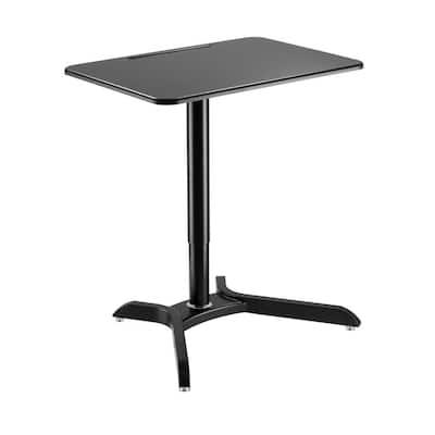 28 in. Black Sit-Stand Workstation