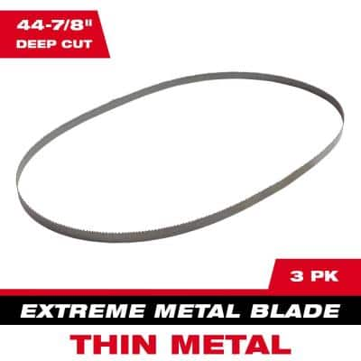 44-7/8 in. 12/14 TPI Deep Cut Portable Extreme Thin Metal Cutting Band Saw Blade (3-Pack) For M18 FUEL/Corded