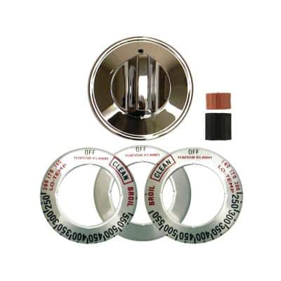 Gas Replacement Knob in Chrome (1-Pack)