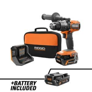 18V Brushless Cordless 1/2 in. Hammer Drill/Driver Kit with 2.0 Ah and 4.0 Ah MAX Output Batteries, 18V Charger, and Bag