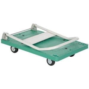 500 lb. 33 in. x 21 in. Plastic Platform Truck with Folding Handle