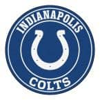 NFL Indianapolis Colts Blue 2 ft. Round Area Rug