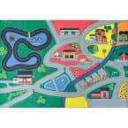 Town Life Multi 3 ft. x 5 ft. Kids Play Area Rug