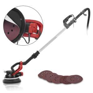 900-Watt Portable Telescopic Handle Variable Speed Drywall Sanding Electric Sander with Sanding Disc