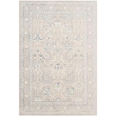 Patina Taupe 4 ft. x 6 ft. Border Area Rug