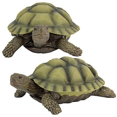 Gilbert the Box Turtle Statue (2-Piece Set)