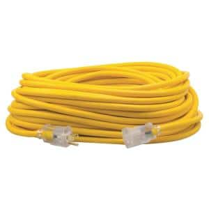 100 ft. 12/3 SJEOW Outdoor Heavy-Duty T-Prene Extension Cord with Power Light Plug