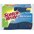 4.3 in. Non-Scratch Scrub Sponge (6-Pack)